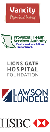 Vancity, Provincial Health Services Authority, Lions Gate Hospital Foundation, Lawson Lundell, HSBC