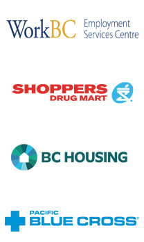 WorkBC, Shoppers Drug Mart, BC Housing, Pacific Blue Cross