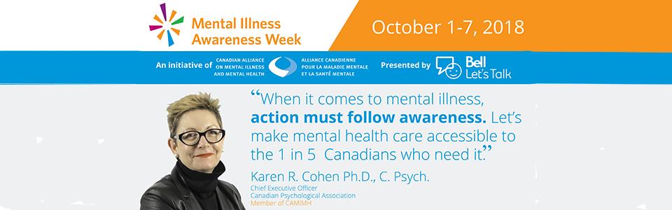 Mental Illness Awareness Week: Oct 1-7, 2018